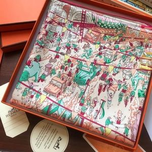AUTHENTIC HERMES SILK SCARF HERMES SILK SQUARE